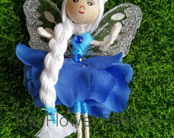 Flower fairy - Sparkly Blue