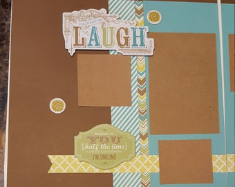 12in x12in double page premade ctmh layout