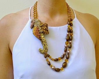 Handcrafted Necklace, Handmade Necklace, Hippocampus Hippocampus-