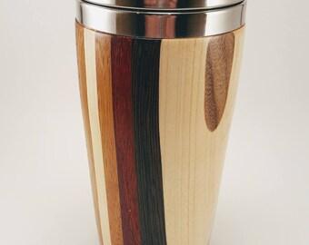 Laminated Wood Travel Mug for hot or cold beverages