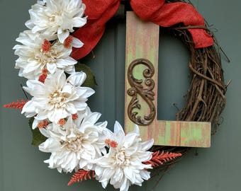 Custom letter L wreath