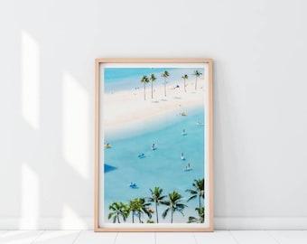 Aerial Beach Print, Aerial Photography, Beach Art Print, Ocean Wall Art, Printable poster, Modern Wall Decor, Ocean decor, Beach printable