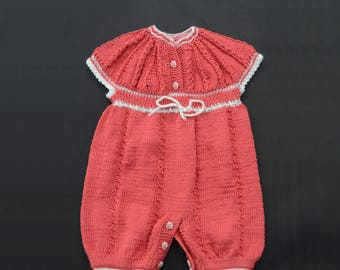 Baby girl cotton overall-dress transformer