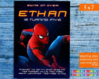 Spiderman Invitation, Spiderman Invites, Spiderman Birthday Invitation, Spiderman Party, Spiderman Birthday, Superhero Invitation, Spiderman