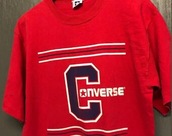 L vintage 90s Converse t shirt