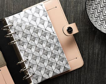 Vellum Planner Pocket - Black Pattern