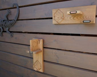 Set of 2 shelves - coat rack made of recycled pallet wood and metal