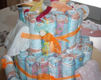 how to make a diaper centerpiece