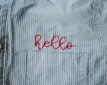 Pocket Embroidered Shirt
