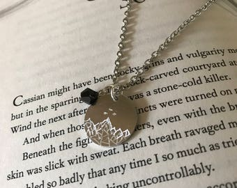 Prythian Courts Necklace, Night Court Necklace, Sprig Court, Dawn Court, Rhysand Necklace, Feysand Necklace, Sarah J. Maas, Bookish Gifts