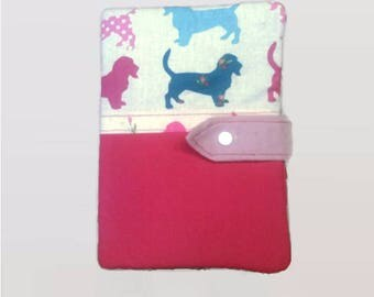 Protects health record quilted button snap closure