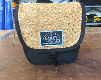 BaileyWorks NH Mini Over-the-Shoulder Adjustable Strap Bag Copper/Gold with Metallic Gold Spots