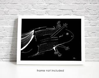 Original Paranoid Monster-Creature Prints