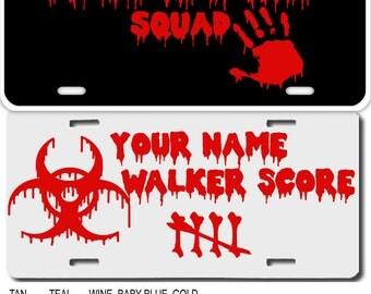 Personalized TWD Style Custom Zombie License Plate Walking dead