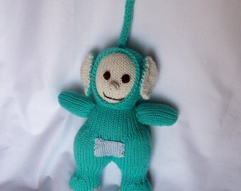 Dipsy, teletubbies handmade knitting