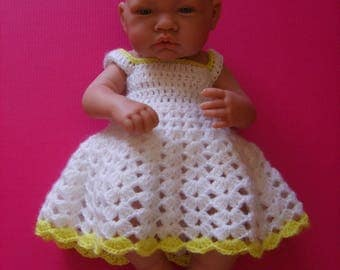 Wool Dress for baby or reborn