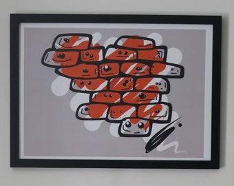 Signature 'ODR1ART' Wall Art A3 Print