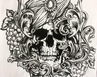 Gypsy Skeleton Art Print