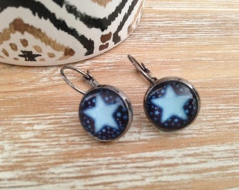 Earrings sleepers stars
