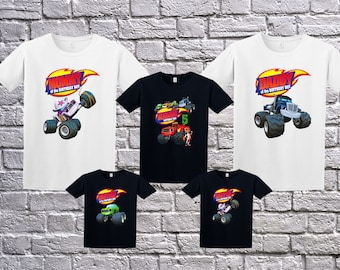 Blaze And The Monster Machines, Blaze Birthday T-Shirt, Blaze Name Age, Custom Blaze Shirt, Personalized Blaze Apparel, Blaze Birthday Party