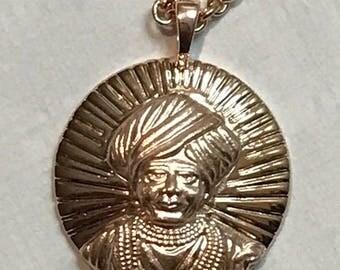 Jalaram Pendant, Om Pendant, Jalaramji Pendant, Jalaram Bapa Pendant Sterling Silver