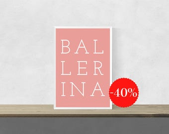 Ballerina Nursery| Ballerina Wall Art| Dancing Ballerinas| Ballerina Art  Print| Ballerina Print