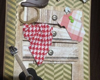 Rustic, Cowboy Themed Baby Shower Card
