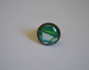 Unique 20 mm bronze ring
