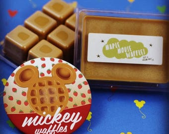 Maple Mouse Waffles Soy Wax Melts - Disney Inspired - Just A Dream Away Co. Shop - Wax Tarts - Wax Melt - Maple - Fall - Soy Candle - Mickey