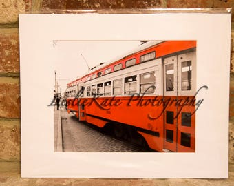 San Francisco Trolley Photograph (Matted)