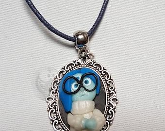 Sadness Kawaii polymer clay necklace