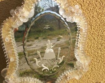 Murano Glass Ladies Vanity Mirror