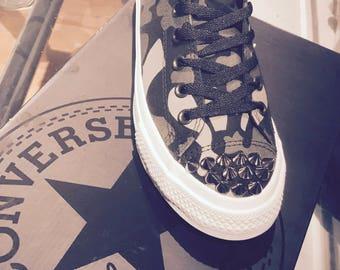 Custom Converse Spikes All Star Chuck Taylor II Camo Camoflauge