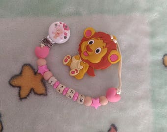 Personalized teething clip