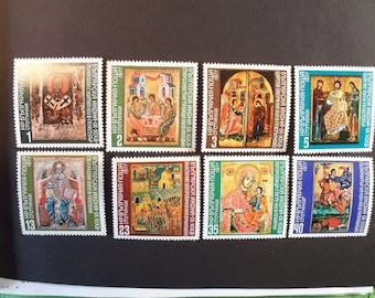 Bulgaria Postage Stamp 1977*Old Testament,Trinity Icons**Complete Set* Scott #2411-18*MNH
