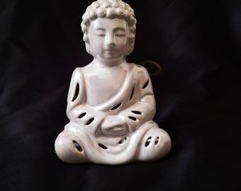 Iridescent Buddha Ceramic Sachet. Lavender Bliss Scent.  Potpourri Holder. Sachet Holder. Thai. Ceramic Decor. High Fragrance Ceramic