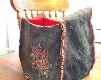 Small Purse Made from Recycled Jeans
