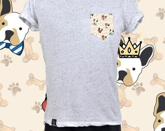 "POCKET TEE ""SPECKLED"" bulldog"