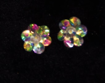 Multi Colored Clip On Earrings