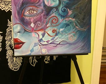 The Mysterious Masqueraded Eye (Original || 16 X 20)
