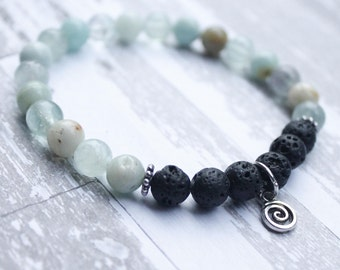 Positivity Diffuser Bracelet with Swirl Charm
