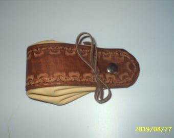 Small genuine cowhide leather purse