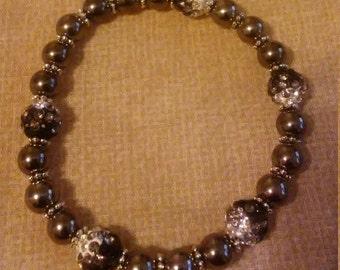 Beaded Bracelet with Rhinestones