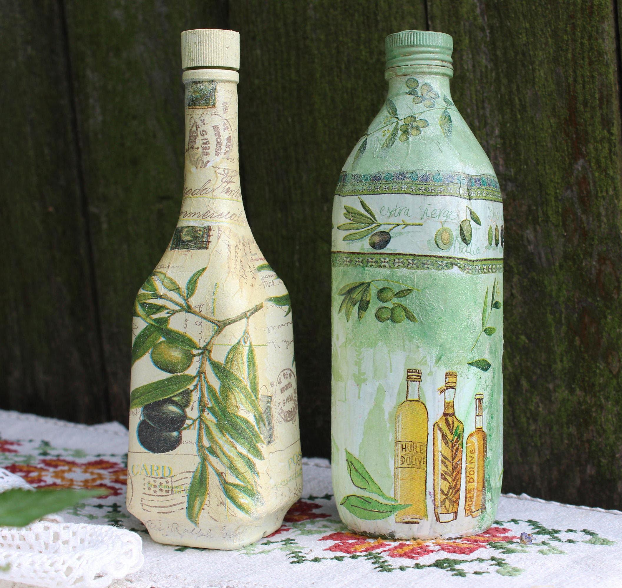 Gift For Mom Olive Oil Bottle Dispenser Oil And Vinegar Glass Oil