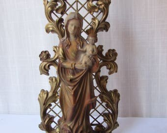 Madonna and Child Italian Made vintage 1860s