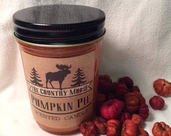 Country Moose Pumpkin Pie Candle