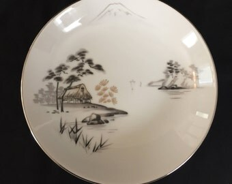 Bread Plate Sone China Mt. Fugi Pattern Vintage 8 available