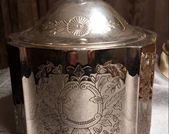 Intricately detailed Silver Plated Red Velvet Lined Jewelry Box