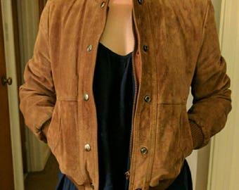 Gorgeous Vintage Wilson's Suede and Leather Bomber Jacket