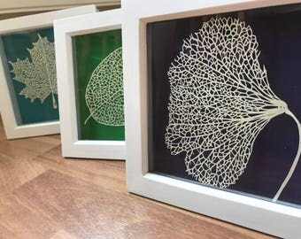 Handmade Leaf Paper Cut/ Nature Papercut/ Hand Cut Autumn Leaf/ Paper Leaves/ Birthday Gift/ Christmas Gift/ Wedding Gift/ Anniversary Gift